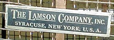 "Label showing ""Lamson Company Inc., Syracuse"""