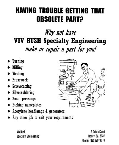Viv Rush advertisement